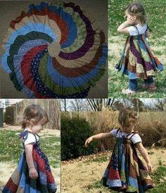 Peppermint swirl skirt, sizes larger, with bias tape casing for elastic and tie straps. Original pattern from Candy Castle. pdf for not a free tutorial or pattern. Sewing For Kids, Diy For Kids, Toddler Outfits, Kids Outfits, Candy Castle, Sewing Class, Girly Outfits, Patch, Baby Dress