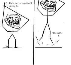 Troll physics Meme Rage Comics, Comics Und Cartoons, What's So Funny, Funny Memes, Jokes, Physics Memes, Troll Face, Cartoon Drawings, Dumb And Dumber