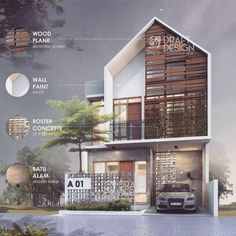 Keterangan foto tidak tersedia is part of House design - Villa Design, Facade Design, Exterior Design, Concept Architecture, Facade Architecture, Residential Architecture, Modern House Plans, Modern House Design, Modern Tropical House
