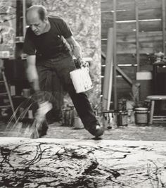 Find out who is Jackson Pollock with this art homework guide, includes facts for kids. #actionpainting