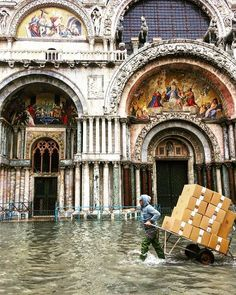 High tide coupled with fierce storms flooded Venice this week damaging homes hotels and the crypt in Saint Marks Basilica. Its the worst flooding Venice has seen since Saint Mark's Basilica, Italy News, High Tide, Storms, Venice, Hotels, Thunderstorms, The Storm