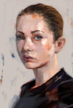 "Saatchi Art Artist Mateja Petkovic; New Media, ""PortraitStudyYoungFace"" #art"