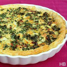 Boerenkool-pancettaquiche uit Sandinavisch Comfort Food van Trine Hahnemann
