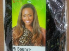 X-Pression Bounce Synthetic Weft Hair Weave - 20Made with easy to blend fibre quality syntheticWeave on20 inches 160 grams Could be use to make