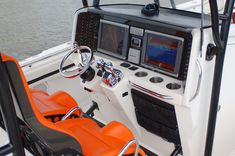 Nor-Tech 392 Super Fish helm and dash.