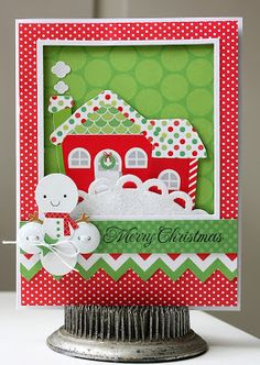 A Doodlebug holiday Christmas card by Shellye McDaniel.