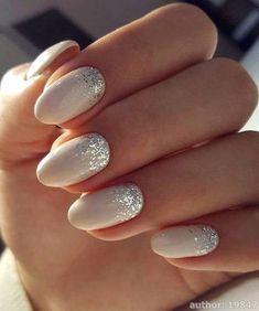 Most Impressive White Wedding Nail Art Designs – Summer Nails – Nail Trends Wedding Nails For Bride, Bride Nails, Wedding Nails Design, Dress Wedding, Nail Wedding, Wedding Makeup, Lace Nail Design, Best Nail Art Designs, Glitter Nail Art