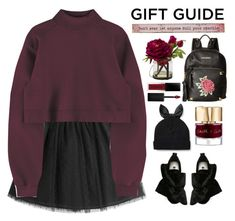 """""""Don't ever let anyone dull your sparkle"""" by sellyankumala ❤ liked on Polyvore featuring RED Valentino, Steve Madden, MSGM, Kate Spade, Smith & Cult, Smashbox, Natural Life, giftguide and red"""