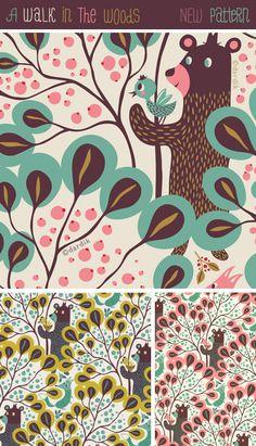 A Walk In the Woods pattern by Helen Dardik