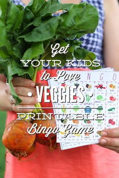 Get Your Kids to Love Veggies: The Live Simply Fruit and Veggie Bingo Game - Live Simply