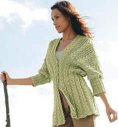 Ravelry: Project Gallery for 03 - Veste manches 3/4 pattern by Bergère de France