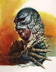 Creature From The Black Lagoon - Artwork by Basil Gogos Horror Monsters, Scary Monsters, Famous Monsters, Monster Squad, Monster Art, Monster Movie, The Frankenstein, Horror Icons, Classic Horror Movies