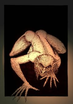 The Bodach - A dark grey humanoid figure who was thought to foretell the death of members in a clan- scottish folklore