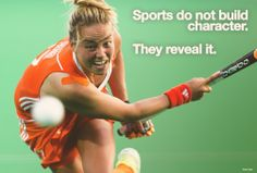 'Sports do not build character. They reveal it' #hockeynl