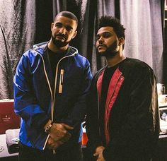 Two of my favs #drake #theweekend
