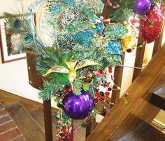 Peacock Garland I designed for a client - AMG Design Studio