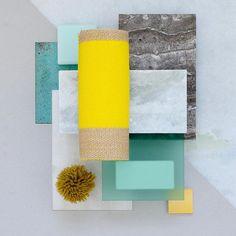 Kvadrat/Raf Simons textiles included in Studio David Thulstrup's material moodboard for a retail concept in Copenhagen