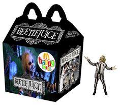 """Beetlejuice"" Happy Meal - UK pls stock them, especially Jack Skellington. Arte Horror, Horror Art, Horror Room, Halloween Horror, Happy Halloween, Happy Meal Box, Horror Cartoon, Latest Horror Movies, Childhood Ruined"