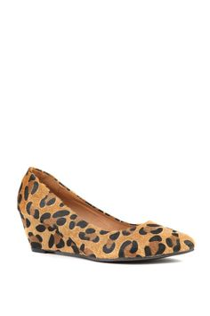 pretty point wedge in animal print $29.95 (synthetic) rubi