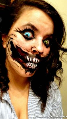 scary makeup for Halloween - Halloween Costumes 2013 Halloween Makeup #halloween #makeup