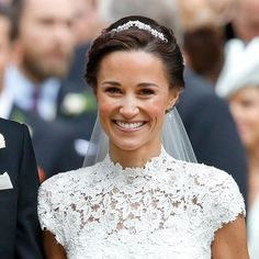 The Story Behind Pippa Middleton's Wedding Tiara Wedding Tiara Veil, Pippas Wedding, Bride Tiara, Wedding Hair Pins, Wedding Hair Accessories, Wedding Ceremony, Wedding Rings, Wedding Ideas, Veil Hairstyles
