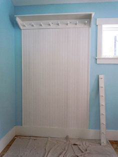 Hang the Peg Rack - Mudd Room Area  Perfect for hanging brooms in the laundry room.