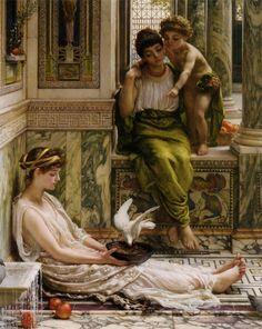 Edward John Poynter (1836-1919)  A Corner of the Villa  Oil On Canvas  -1889