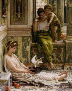 Edward John Poynter (1836-1919)  A Corner of the Villa  Oil On Canvas  -1889