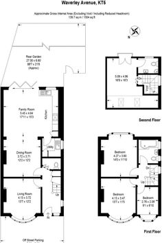 Try this property on the market on Rightmove! Kitchen Extension Floor Plan, Kitchen Extension Family Room, House Extension Plans, Open Plan Kitchen Living Room, House Extension Design, Kitchen Floor Plans, Extension Ideas, House Plans Uk, House Floor Plans