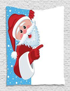 Sinma Christmas Shower Curtain, Kids Waterproof Mildewproof Durable Digital printing Polyester Bathroom Shower Curtain Decor with Hooks (Red Santa Claus) Home Curtains, Fabric Shower Curtains, Bathroom Shower Curtains, Curtain Fabric, Christmas Bathroom Decor, Christmas Shower Curtains, Bath Decor, Christmas Fabric, Christmas Design
