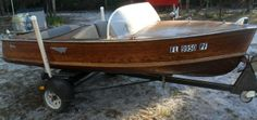 I have for sale a 1957 Penn Yan wooden boat, motor & Trailer, with clean Florida Title. Penn Yan Boat, Classic Wooden Boats, Vintage Boats, Wood Boats, Charcoal Grill, Wheelbarrow, Water Crafts, Used Cars, Motors
