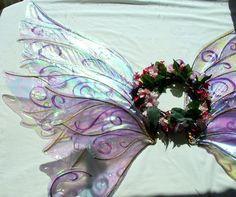 Custom Magical Sparkle Fairy Costume Wings Large | FairyBerries - Clothing on ArtFire