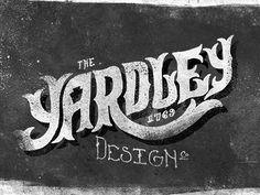Dribbble - Yardley Design Co by Adam Trageser #vintage