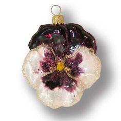 White-violet pansy - Christmas Tree Decorations - Silverado.com.pl