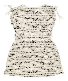 Cream Polka Dot Lana Organic Dress