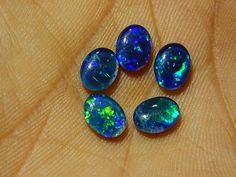 Triplet Australian Opal Loose Cabochon lot 5 pcs by manzoorgems