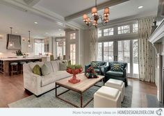 Close to Perfect Traditional Open Living Room Ideas | Home Design Lover Great Neighborhood Homes