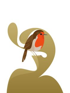 Robin, print by Stanley Chow, from the artist's website.