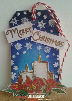 Good morning all. As many of you know the fabulous Tracey McNeely has been hosting her 25 Days of Christmas Tags event again this year. Christmas Blocks, 25 Days Of Christmas, Christmas Candles, Christmas Tag, Christmas Ornaments, Good Morning All, One More Day, I Card, Tags