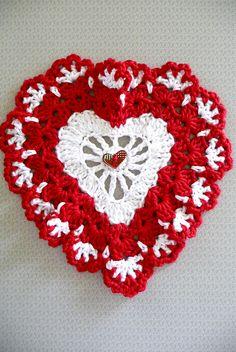 Ravelry: crochet buttercup11's ZL - Sweetheart Dishcloth