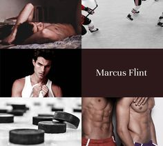 Aesthetic Advent: Day 14 Marcus Flint x Oliver Wood   Winter Challenge ↳ Muggle Hockey AU {sources}