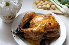 Pollo asado en crôute Turkey, Meat, Food, Salad Chicken, Roses, Turkey Country, Essen, Meals, Yemek