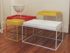 Colores en nuestras mesas adicionales puket. #solsken www.solsken.com.ar