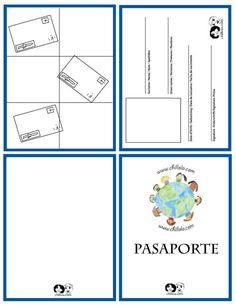 Thinking day passport template Spanish Lessons, Learning Spanish, Passport Template, Booklet Template, Passport Stamps, Passports For Kids, Zumba Kids, Around The World Theme, Around The World Crafts For Kids