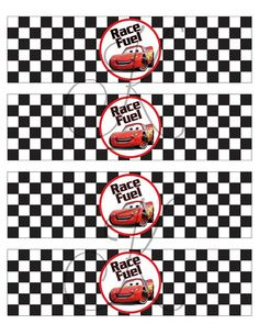 Printable Water Bottle Labels Disney Cars Birthday by Kezziecakes