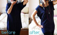 Wardrobe Recycle: T-Shirt Refashion