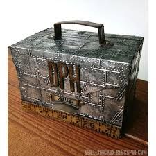 Tim Holtz Alterations rivets and Diamond Plate Sizzix Texture Fades. - Google Search