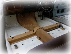 Daimler V8 250 - Gearbox Tunnel Carpet Set & Seat Runners - Biscuit Light Tan - Woven Wool