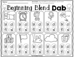 Beginning L blends dab. Use a bingo dabber to dab the beginning blend!