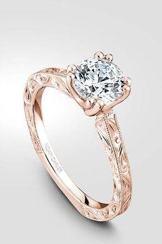 Rose Gold Engagement Rings That Melt Your Heart ❤ See more: http://www.weddingforward.com/rose-gold-engagement-rings/ #weddings #weddingring